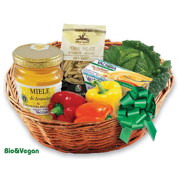 Consegna a domicilio di cesto regalo con prodotti bio online