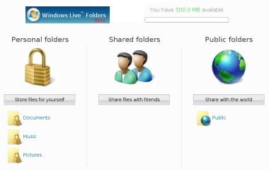 windows live folders
