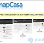SnapCasa, servicio para crear capturas de pantalla de sitios web