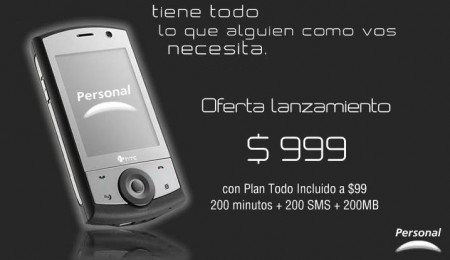 HTC Touch Cruise en Telecom Personal
