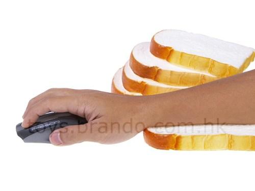 Mousepad con forma de pan lacteado