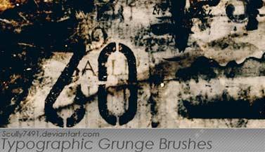 Brushes estilo grunge