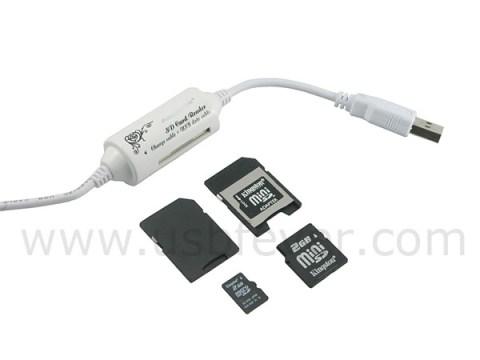 Cable USB + lector de tarjetas