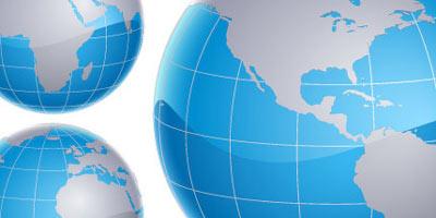 Vectores de mapas y globos