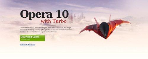 Opera 10 con Turbo