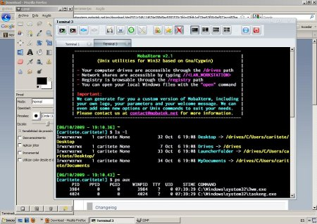 Corriendo MobaXterm en Windows Vista