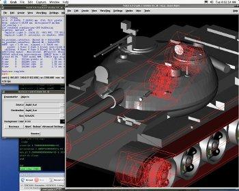 brl-Cad, colorización y renderizado