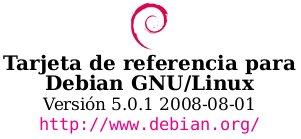 Tarjeta de referencia de comandos de Debian