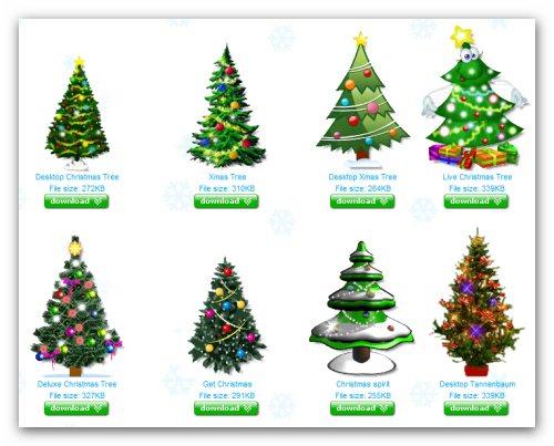 Arbolitos de Navidad animados para el escritorio