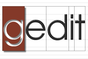 El logo de Gedit