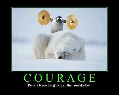 Tux coraje