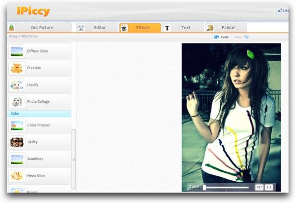 Ipiccy editar y agregar efectos a tus fotos online for Editor de fotos efectos