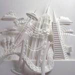 Bellas esculturas de papel
