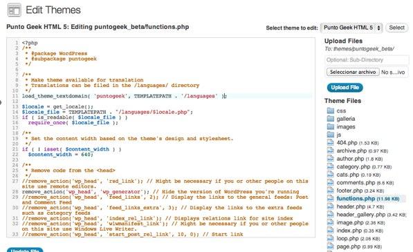 WP Editor: Agrega un editor de código para editar los temas de Wordpress