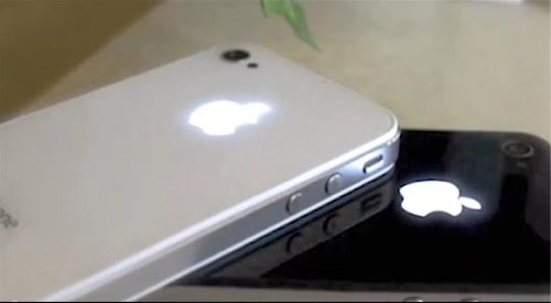 iphone logo iluminado