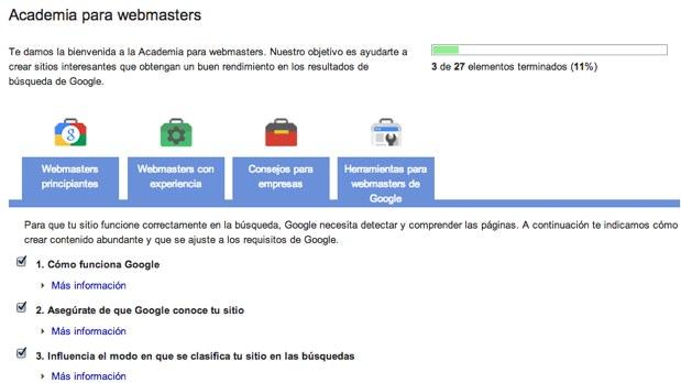 Academia para webmasters