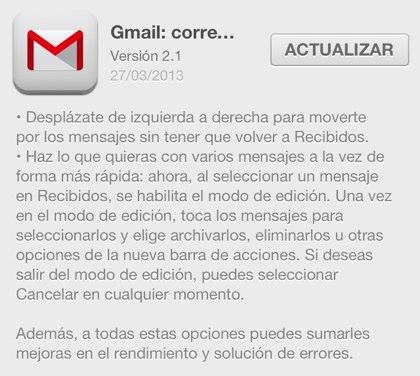 gmail 2.1 ios