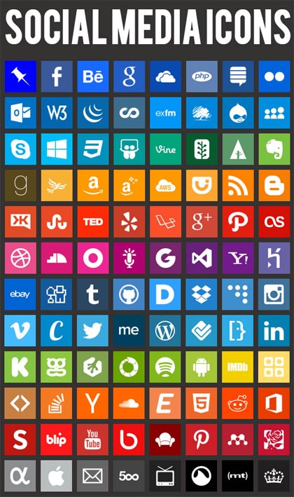 social-media-flat-icons