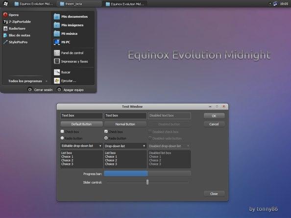 Equinox Evolution Midnight for XP