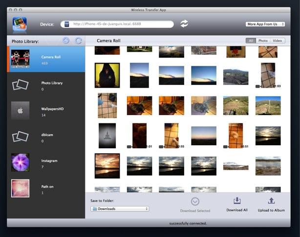 Wireless Transfer App mac