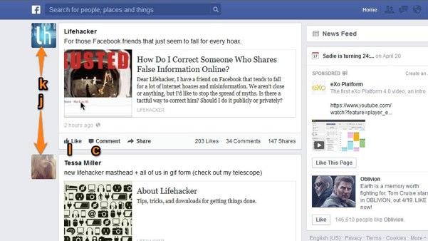 atajos de teclado facebook