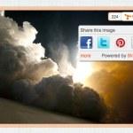 Agregar botones sociales para que los lectores compartan las imágenes de nuestro sitio