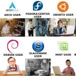 Así se ven los usuarios de las distribuciones de Linux