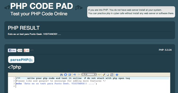 PHP Code Online editor