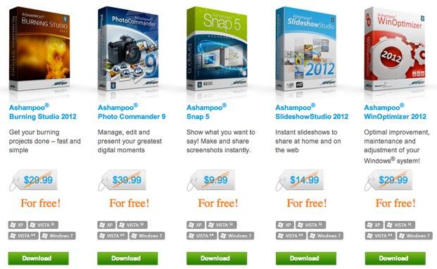 software ashampoo gratis