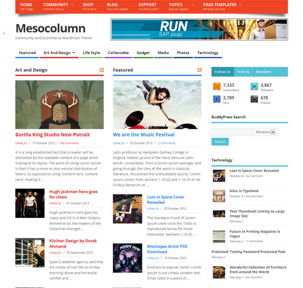 mesocolumn-wp-theme