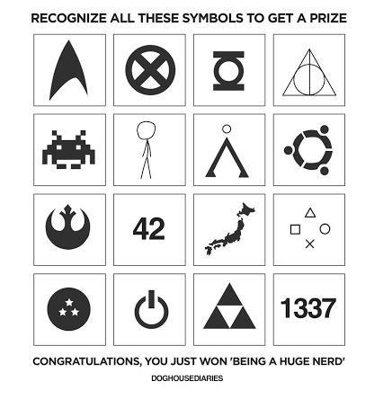 Los símbolos que todo nerd debería reconocer