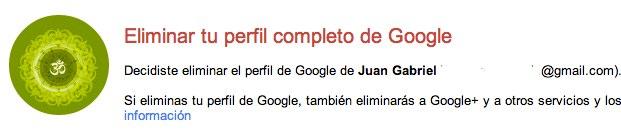 eliminar google+