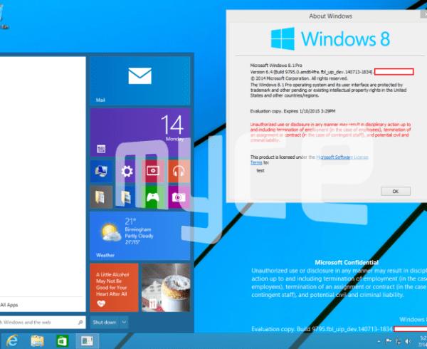 Pantalla de inicio de la nueva versión de Windows