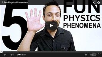 5 increíbles fenómenos físicos