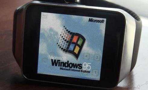Windows 95 en smartwatch