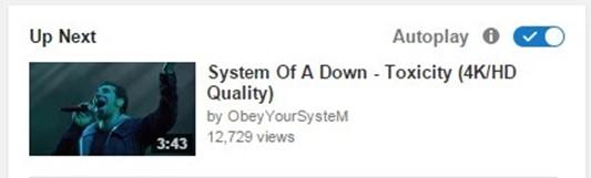 desactivar autoreproduccion youtube