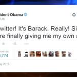 Obama rompe récord en Twitter en menos de 5 horas
