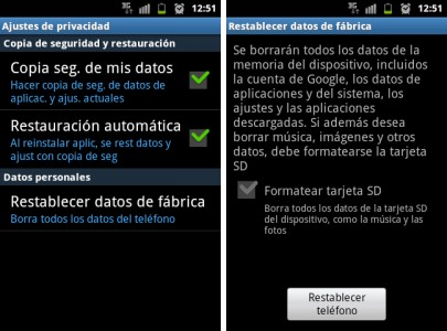 restablecer android