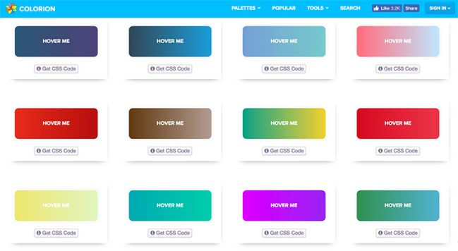 Estilos CSS de botones degradados