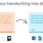 Scribble, transforma tus textos manuscritos en digitales tomando una foto