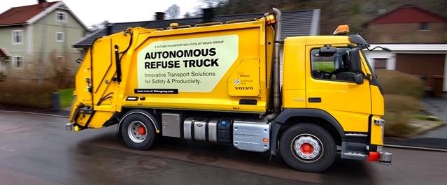 Camión recolector de basura autónomo Volvo