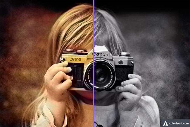 Transformar foto en blanco y negro a color