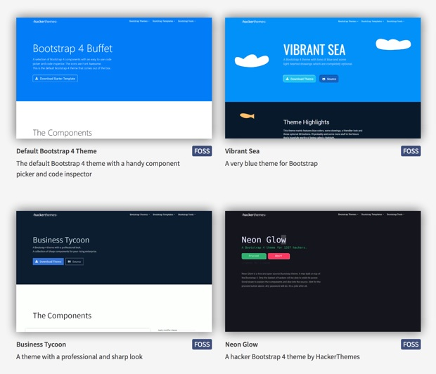 Themes open source para bootstrap 4