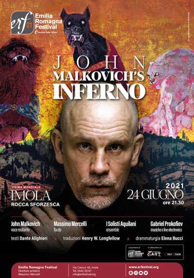 """""""John Malkovich Inferno"""" in prima assoluta all'Emilia Romagna Festival, Imola"""