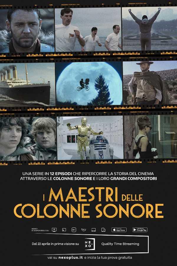 In attesa della notte degli Oscar ® Nexo+ celebra il grande cinema con la serie I MAESTRI DELLECOLONNESONORE