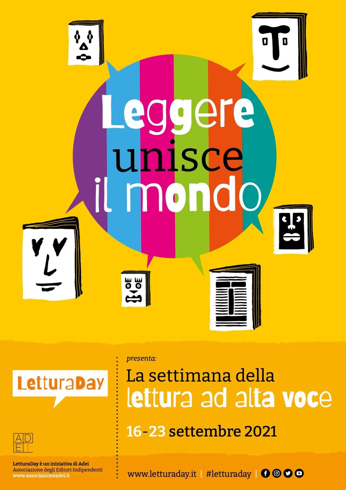 Lettura Day - Leggere unisce il mondo, una settimana dedicata alla lettura ad alta voce