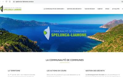 https://spelunca-liamone.corsica, le site web de la Communauté de Communes