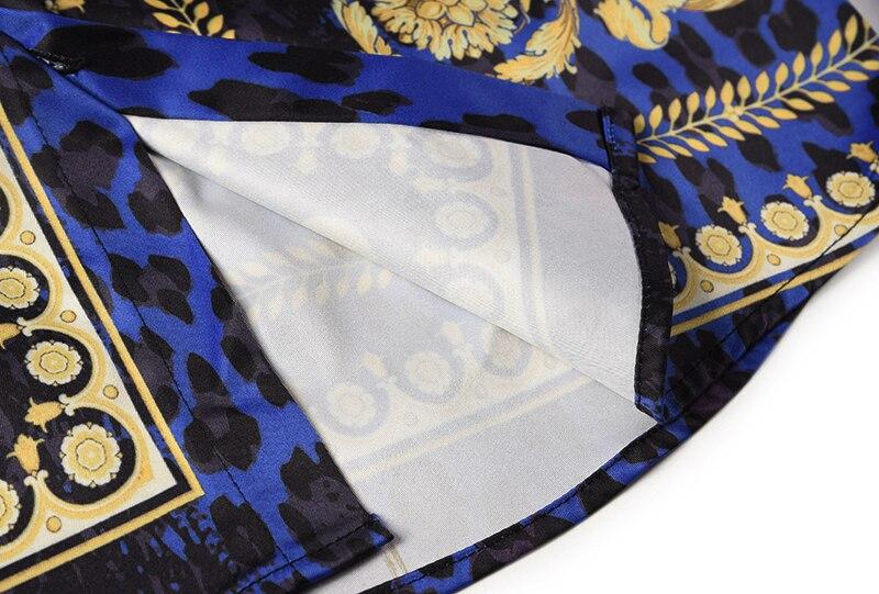 Royles! Men's Leopard styled Floral Long Sleeve Shirt 10
