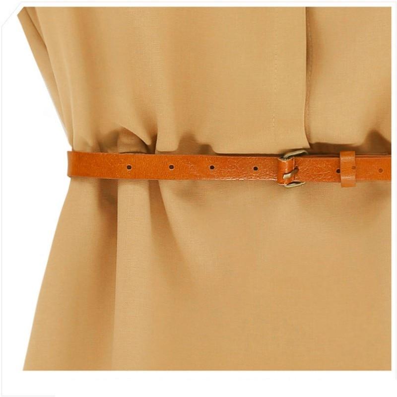 Plain Summer Mini Dress With Belt 4