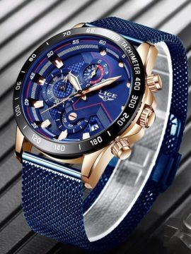 Lige Quartz Gold Watch Mens Watches